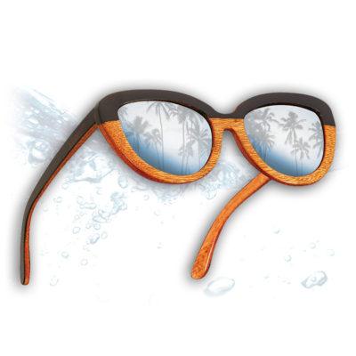 DelRay Badspade Eyewear Sunglasses that float on water